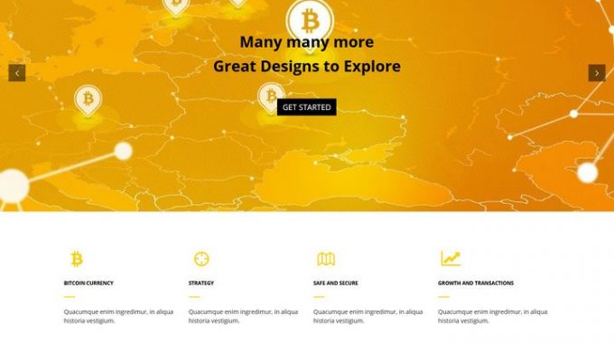 Bitcoin Currency WordPress Theme