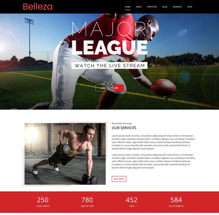 Sports Premium Responsive WordPress Themes
