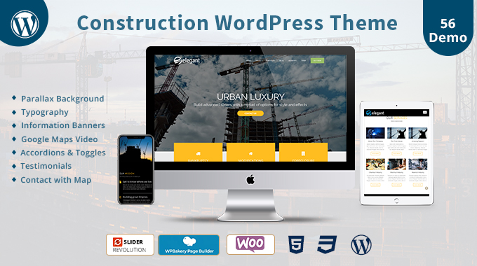Construction Responsive WordPress Theme - WordPress Themes Hub
