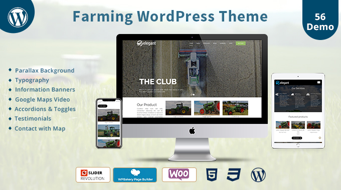 Farming Responsive WordPress Theme