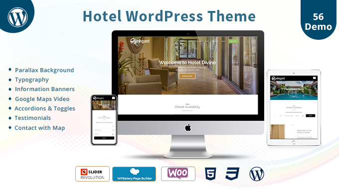 Hotel Responsive WordPress Theme