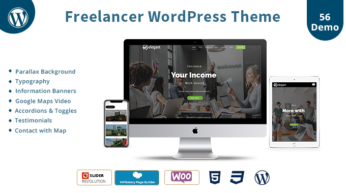 Freelance Responsive WordPress Theme