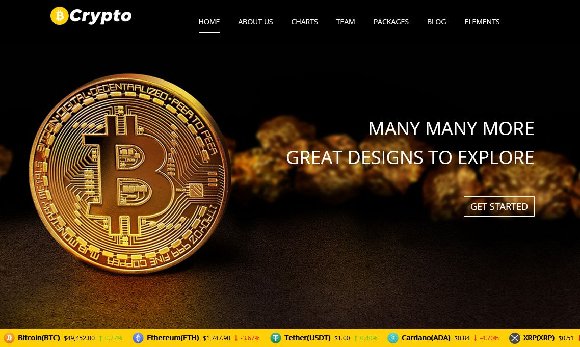 Cryptocurrency WordPress Theme Chicago