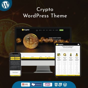 Responsive Cryptocurrency WordPress Theme Bitcoin Dashboards + ICO