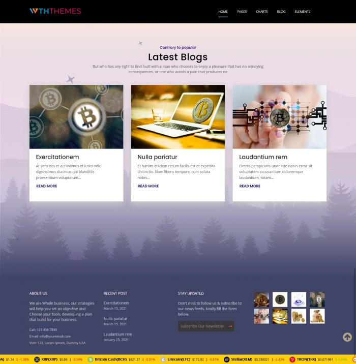 Crypto currency WordPress Theme