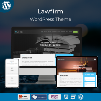 Law Firm Corporate WordPress Theme