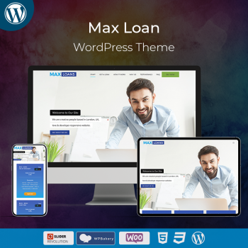 Max Loans Business WordPress Theme