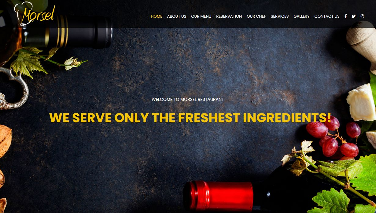 Morsel Responsive Restaurant WordPress Theme Los Angeles