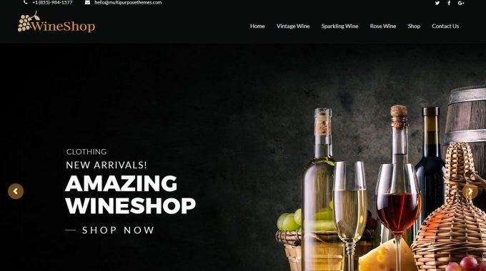 Wine Shop Business WordPress Theme