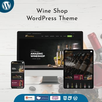 Wine Shop Business WordPress Theme