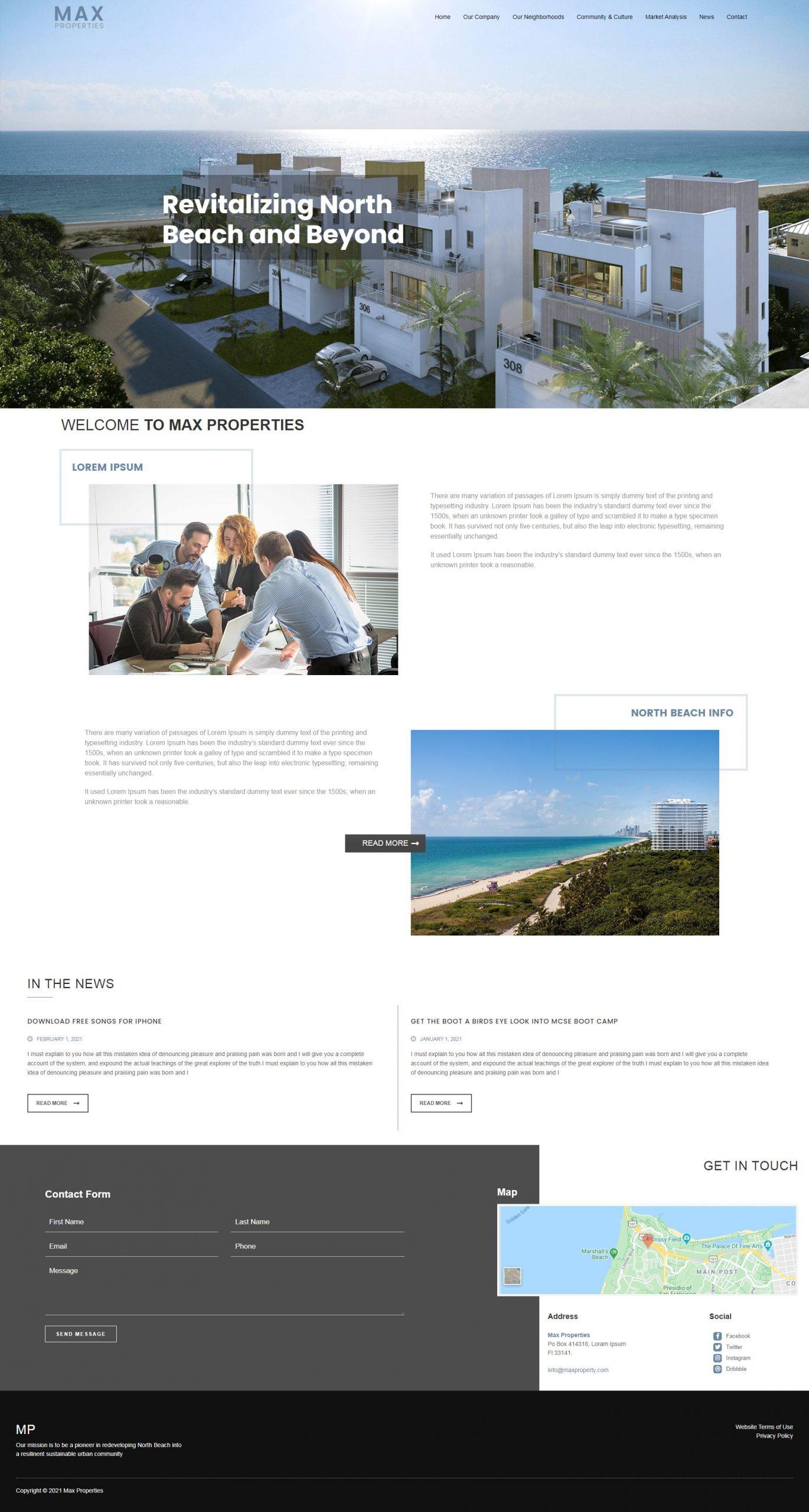 WordPress Theme Los Angeles