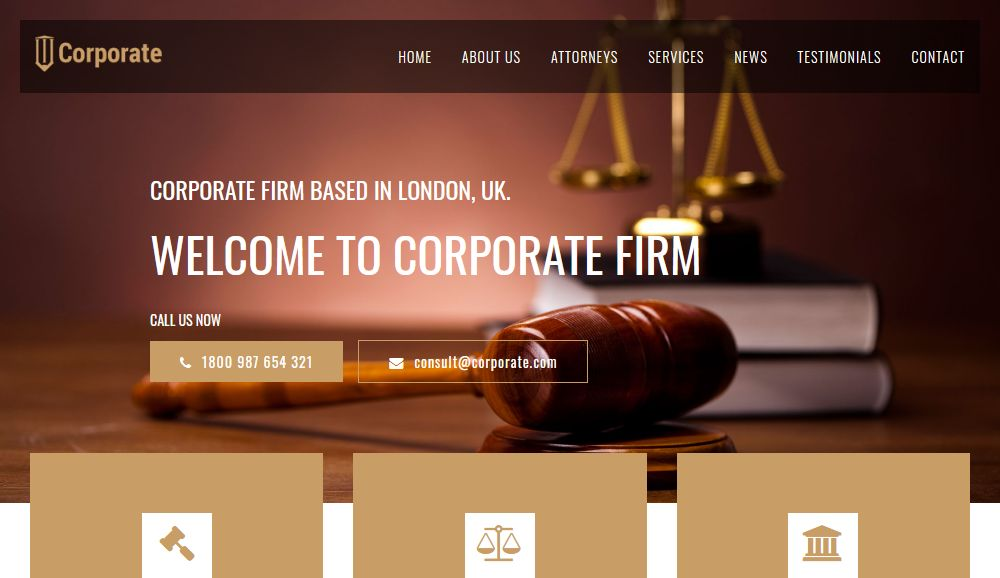 Corporate Law Firm WordPress Theme Los Angeles