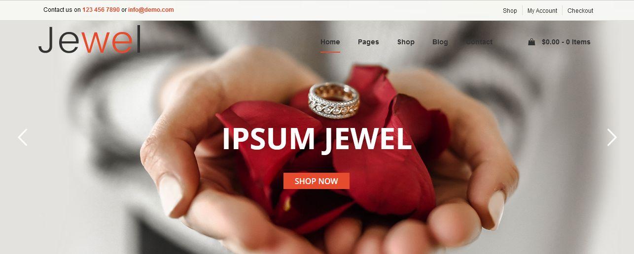 Jewelry Premium WordPress Themes Los Angeles