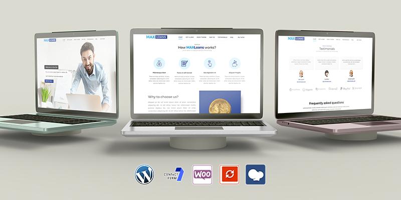 Max Loans Business WordPress Theme Chicago