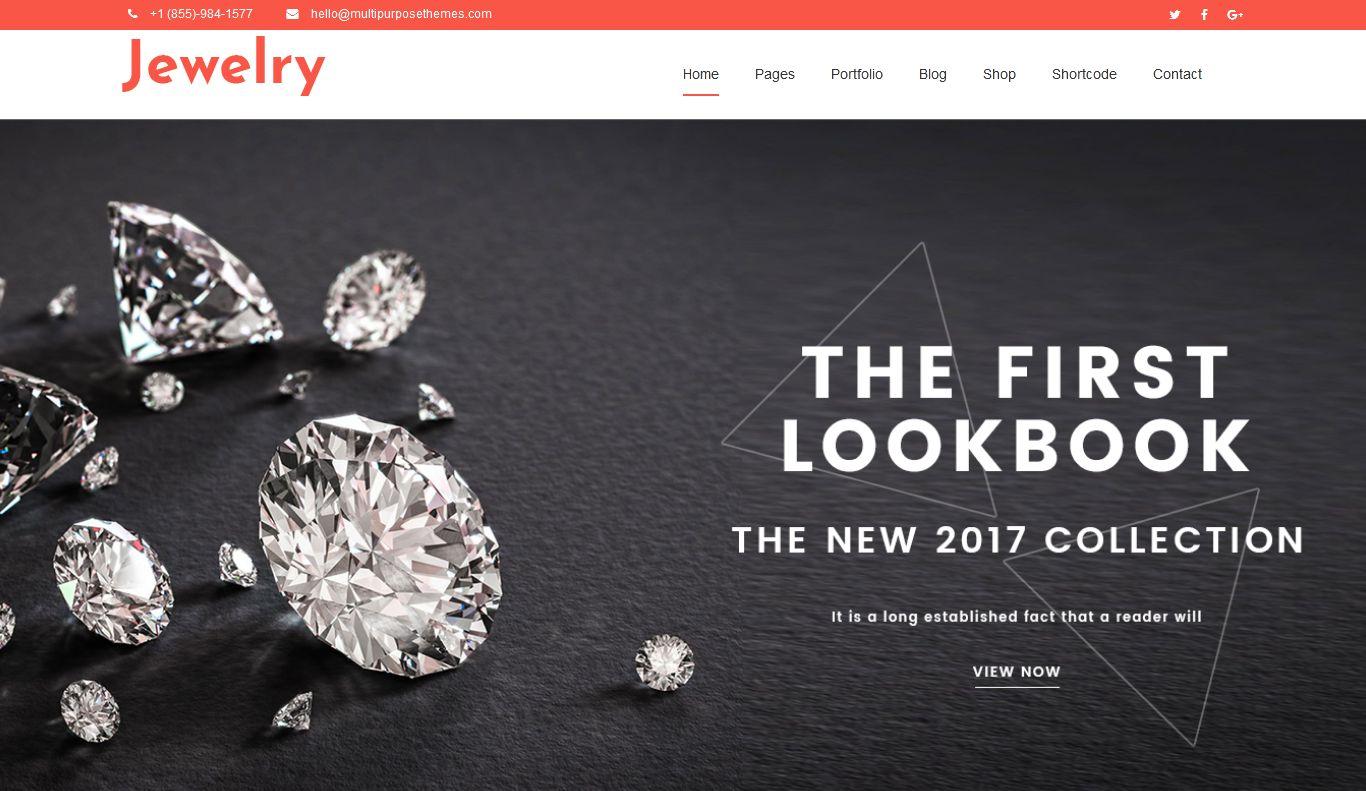 Premium Jewelry WordPress Theme Los Angeles