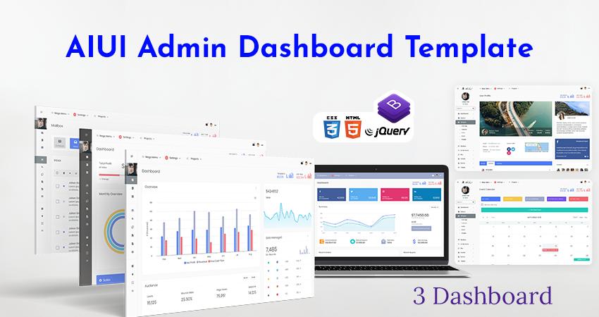 AIUI Admin Dashboard Template & Web Apps