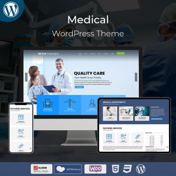 Multipurpose Responsive Medical WordPress Theme