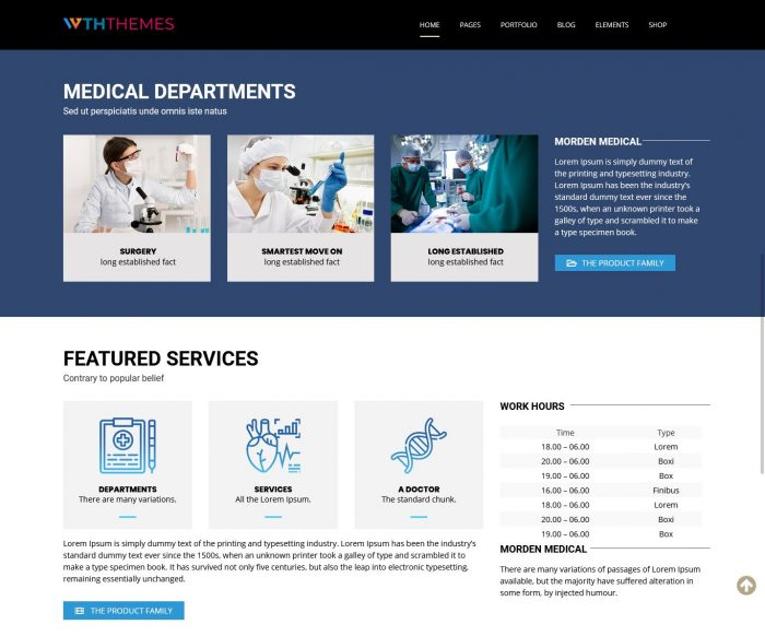 Medical WordPress Theme Chicago