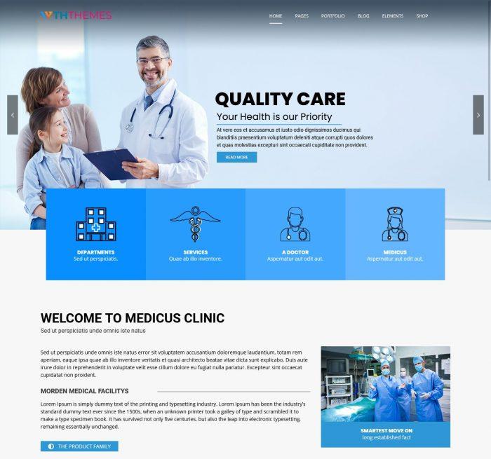 Medical WordPress Theme Los Angeles