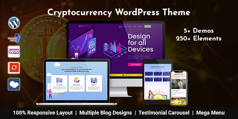 Cryptocurrency WordPress Theme Los Angeles