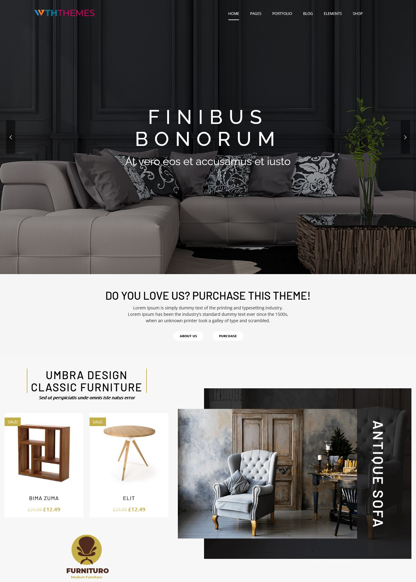 Furniture WordPress Theme Los Angeles