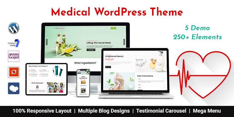 Multipurpose Responsive Medical WordPress Theme Chicago