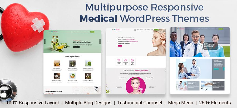 Multipurpose Responsive Medical WordPress Theme Los Angeles