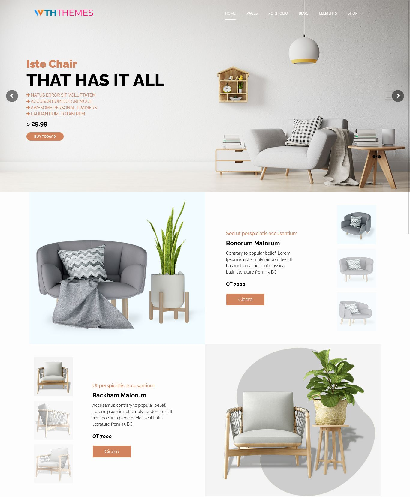 Responsive Furniture WordPress Theme Los Angeles