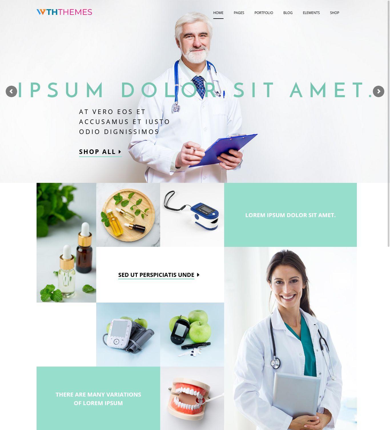 Responsive Medical WordPress Theme Los Angeles