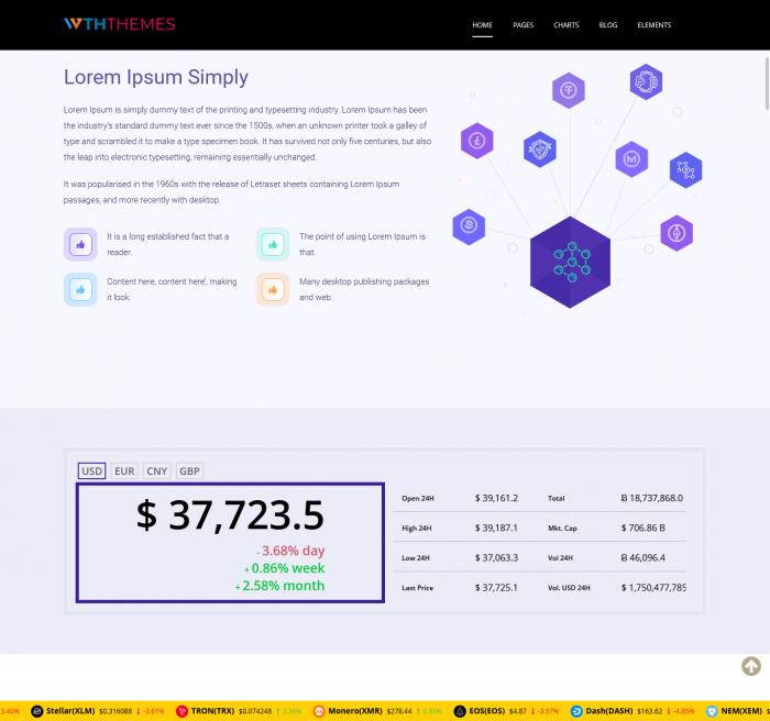 Bitcoin Cryptocurrency WordPress Themes