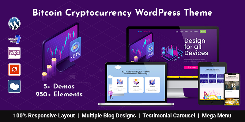 Bitcoin WordPress Theme