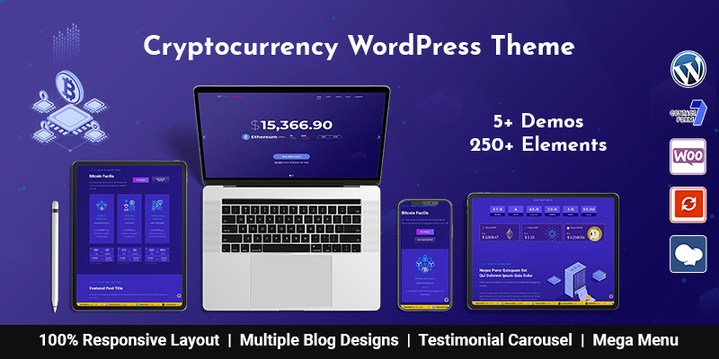 Best Bitcoin And Crypto Currency WordPress Theme