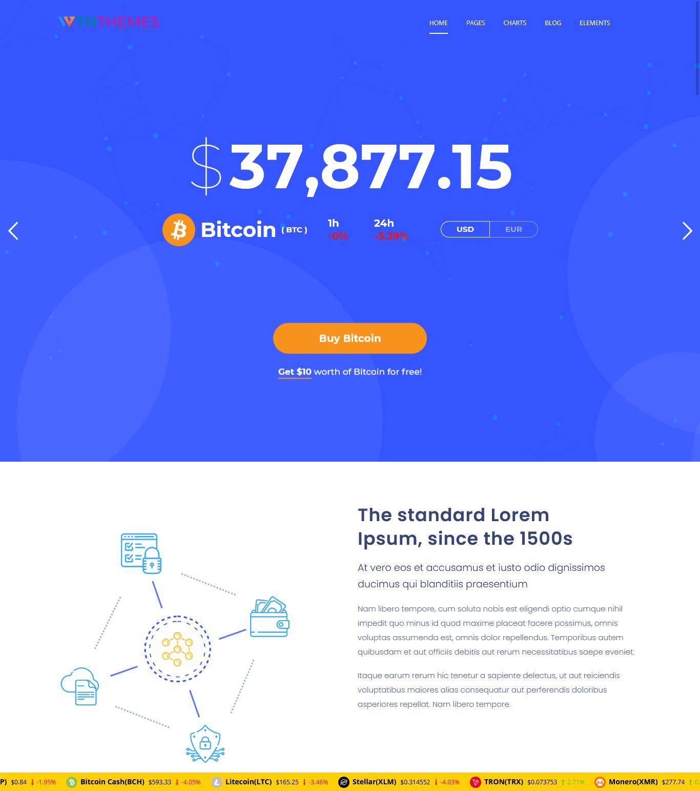 Business Cryptocurrency WordPress Theme