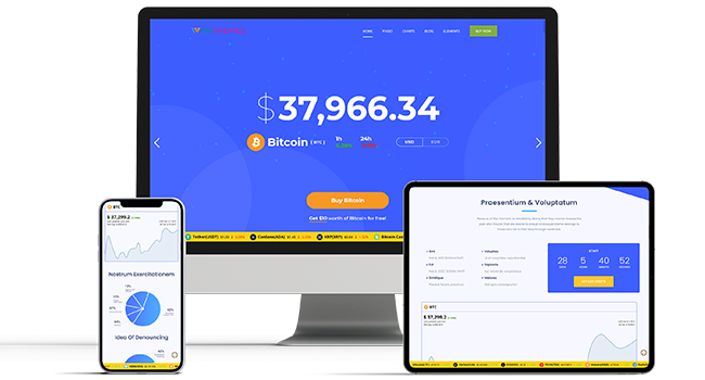 Business Cryptocurrency WordPress Themes