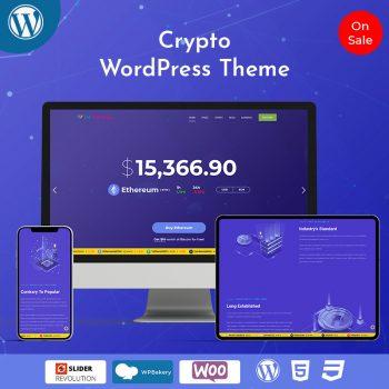 Responsive Bitcoin Crypto WordPress Theme