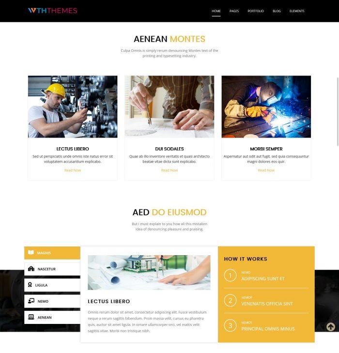 Engineering WordPress Theme
