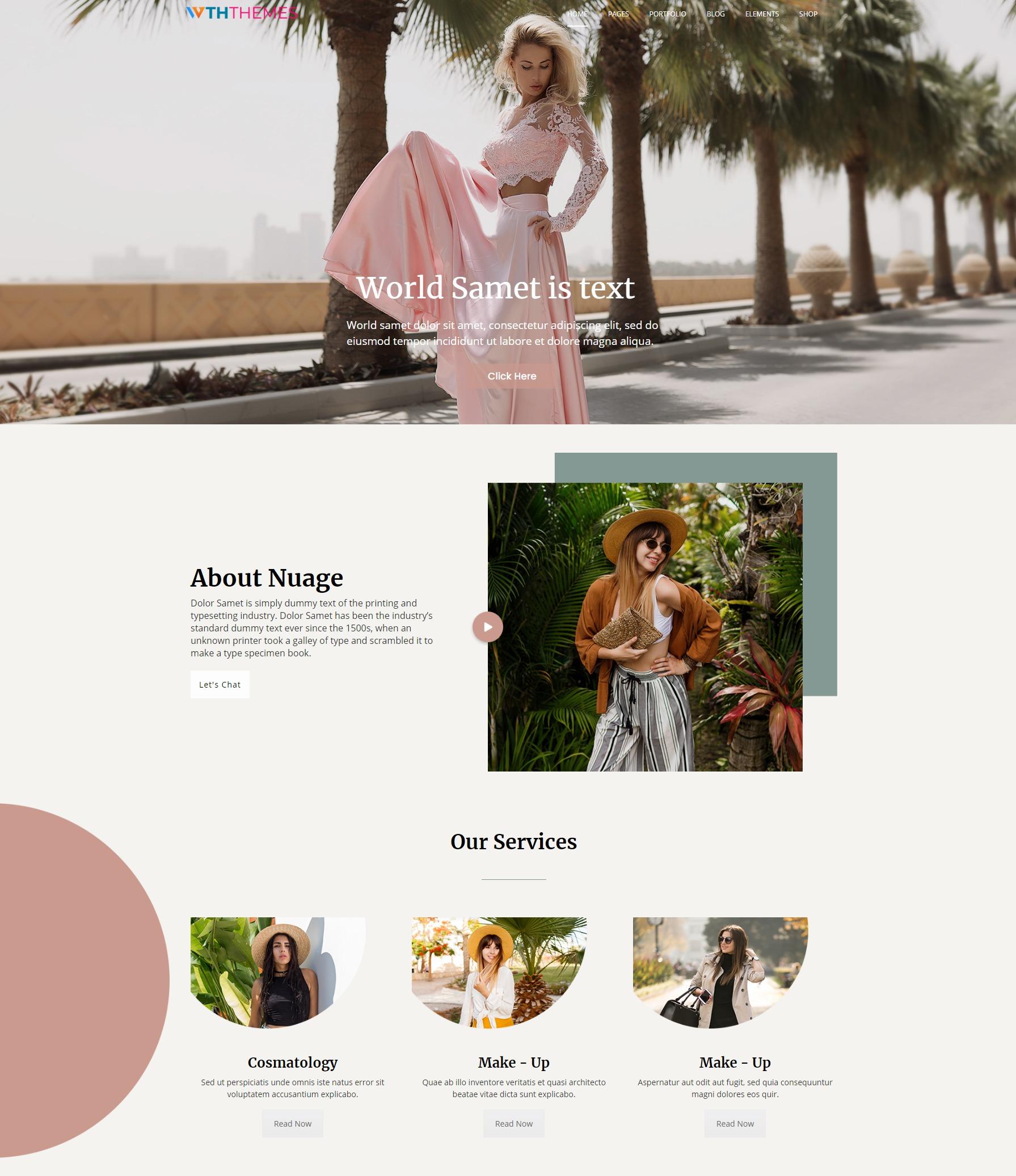 Fashion Business WordPress Theme