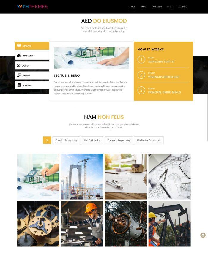 Industrial Engineering WordPress Theme
