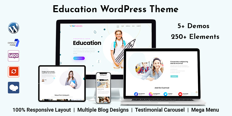 Modern Education WordPress Theme For Your Educational Institute