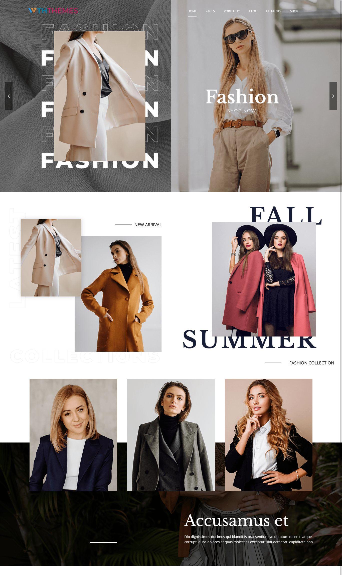 Responsive Fashion Business WordPress Theme