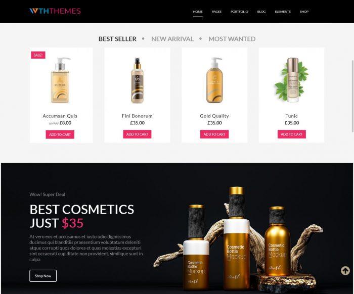 Cosmetics WordPress Theme