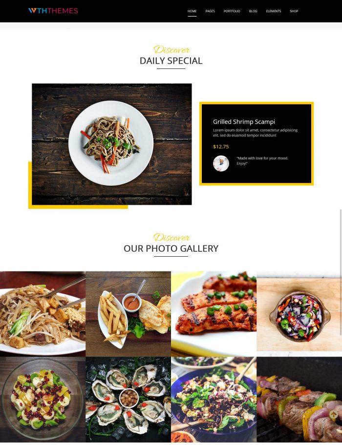 Foody WordPress Theme