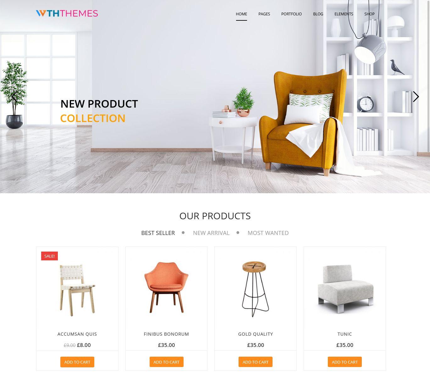 Furniture Shop WordPress Themes