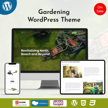 Landscape Gardening WordPress Theme
