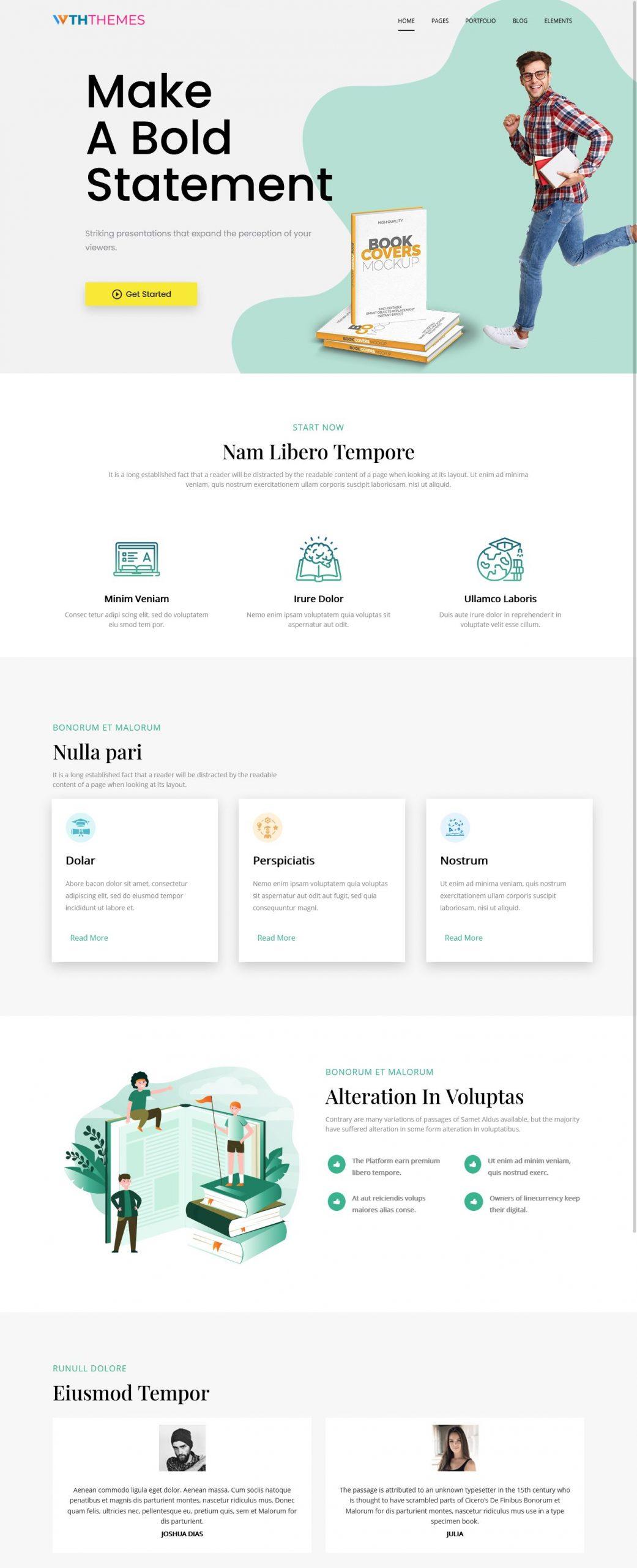 Modern Education WordPress Theme